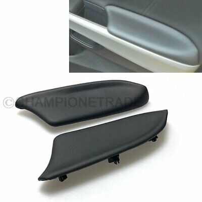 2 Pcs For 08-12 Honda Accord Black PU Leather Front Door Panel Armrest Cover Lid