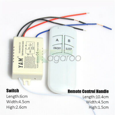 Wireless Smart Remote Control Switch ON/OFF LED Lamp 220V Receiver Transmitter