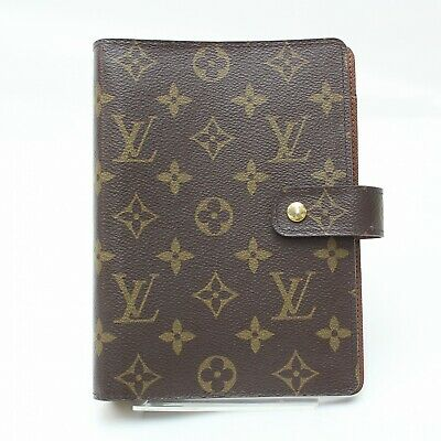 Authentic Louis Vuitton Diary Cover Agenda MM Browns Monogram 812067