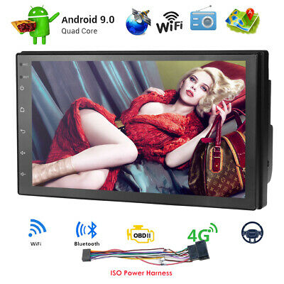 """Double 2DIN 7"""" Android 9.0 Car Stereo GPS Navi MP5 Player Bluetooth FM Radio SWC"""