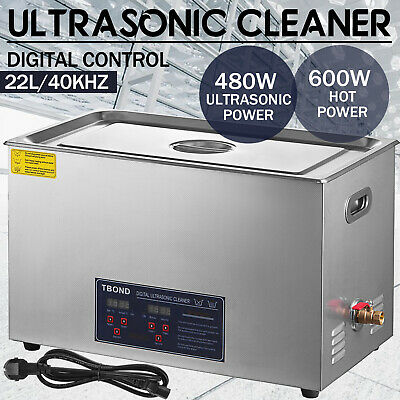 Industy Stainless Steel 22 Liter Digital Ultrasonic Cleaner Heated Heater Timer