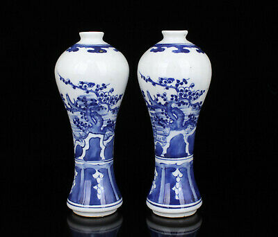 China Old Collectible Handwork Painting Blue And White Jingdezhen Porcelain Vase