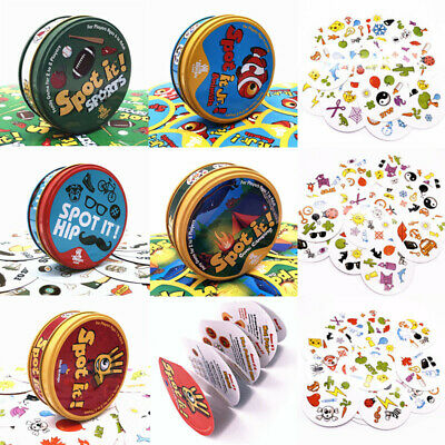 Spot it Animals Hip Gone Camping Sports Party Game Dobble It Family Card Gift
