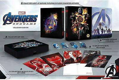 Avengers : Endgame 3D UK Exclusive Collector's Edition Steelbook (+ 2D ) Rare