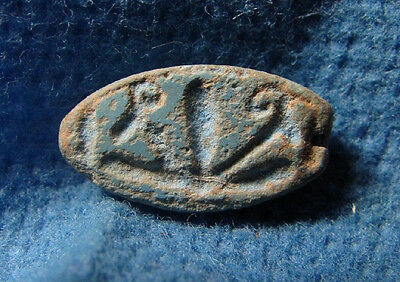 Choroid / Scaraboid Blue sandstone Probably Late bronze 1550-1170 BC. Egypt.