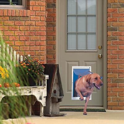 Pet Door Extra Large Deluxe Aluminum Frame Magnetic Flap Dog Cat 10.5 In X 15 I