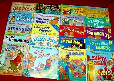 19 BERENSTAIN BEARS Books Ages 3-7 PreK Kindergarten Teachers FREE SHIPPING