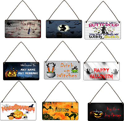 GB02477 Halloween Haunted House Neighbourhood Witch Sign Wooden Plaque Party Decoration Sign From CGB Giftware