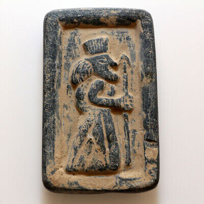Extremely Rare Sasanian Black Stone Plaque Panel Ornament Circa 200-500 Ad
