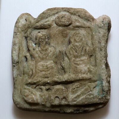 Superb Circa 1500-1600 Ad Stone Plaque Panel Ornament
