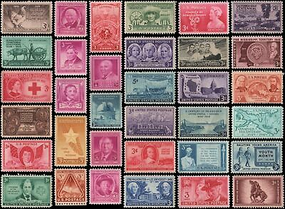 US #953-986 set MH 1948-1949 commemorative year set