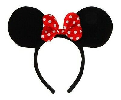 Disney Minnie Mouse Costume Ears Headband with Bow Red
