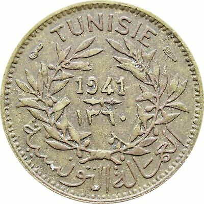 1941 50 Centimes Tunisia Coin Chambers of Commerce Coinage (MO1354-)