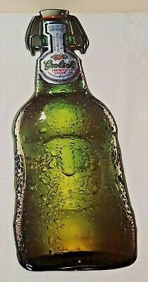 GROLSCH Lager Bottle Advertising Sign Metal Tin Bar Pub Man Cave New NOS 28x9