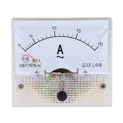 AC 0-20A Analog Panel Ammeter Gauge Ampere Current Meter 85L1
