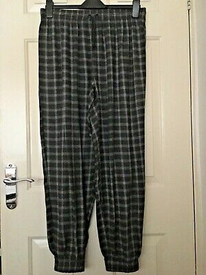 Next Grey White Check Pyjama Bottoms Size L 16 - 18 Eu 4