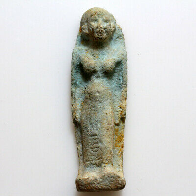 Circa 500-300 Bc Egyptian Faience Female Statue Ornament