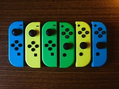 Joy-Con Controllers for Nintendo Switch: Blue, Green, Yellow