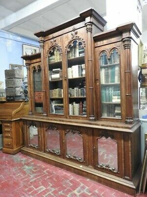 Important Antique Bookcase English Mahogany Period 1870 about London Period