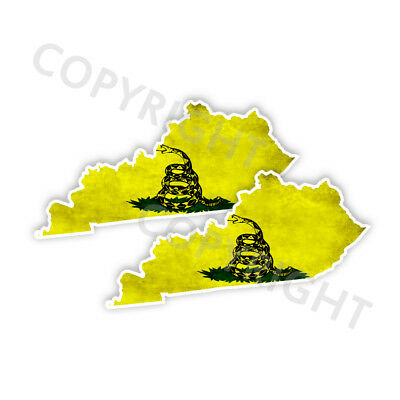Dont Tread on Me Decal State Michigan window vinyl sticker Various Size Distress