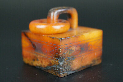 One Fine Chinese Ancient Jade Carving Jade Signet 0043