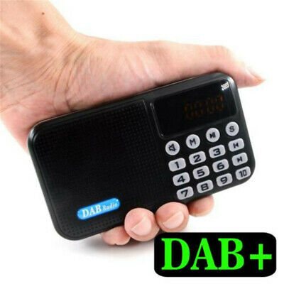 UK Digital DAB/DAB Radio Bluetooth Speaker with FM Portable Rechargeable Battery