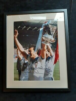 "West Ham, Genuine hand signed - Trevor Brooking Framed to 16"" x 20"" with COA"