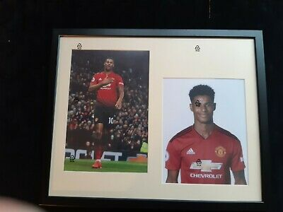 "Manchester Utd Genuine hand signed - Marcus Rashford Framed - 16"" x 20"" with COA"