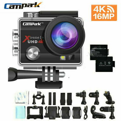 "Campark Action Camera 4K 16MP WiFi Sports Cam Underwater 30M Camcorder 2"" LCD"
