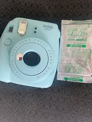 FUJIFILM Instax Mini 9 Ice Blue Instant Film Camera with one pack of film