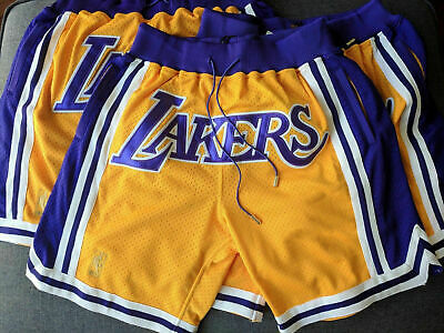 LeBron James Just Don Vintage Los Angeles Lakers Basketball Shorts Big Print New