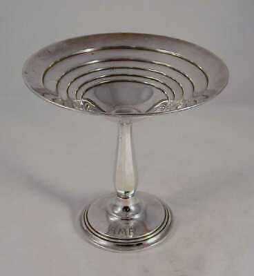 International Sterling Silver Candy Dish Long Stem Compote Modern Design >4 Oz-1