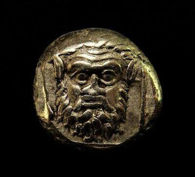 Masterpiece ⭐Scary Satyr/Dionysus Very Rare Ancient Greek Gold Coin
