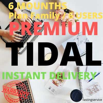 TIDAL PREMIUM +6 USERS  FAMILY PLAN√ 6 Mounths Warranty √ INSTANÑT DELIVERY