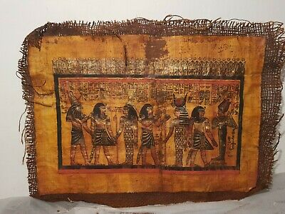 Rare Antique Ancient Egyptian Papyrus 4 Gods Horus Isis Hathor Osiris1525–1504BC