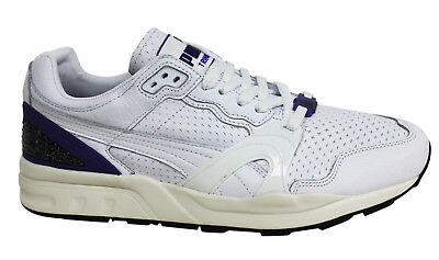 PUMA TRINOMIC XT2+ Lace Up White Leather Mens Trainers