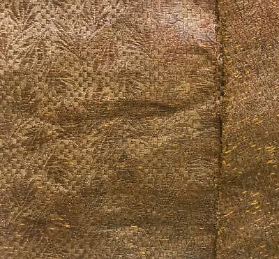 2 BEAUTIFUL UNUSUAL FRAGMENTS 19th CENTURY FRENCH GOLD LAMÉ, CLOTH OF GOLD 462