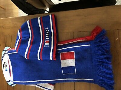 France Rugby World Cup 2015 Scarf And Beanie Cap New With Tags