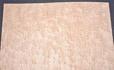 Birdseye Maple Raw Wood Veneer Sheets 7.5 x 22 inches                   G7627-9