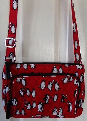 Nwt New Authentic Vera Bradley Little Hipster Playful Penguins Red $59.00