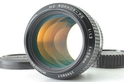 【EXC+++】Minolta MC Rokkor PG 58mm f1.2 MF Lens for MD Mount from JAPAN C801T