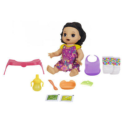 Awful Alive Happy Hungry Baby Brown Straight Hair Doll