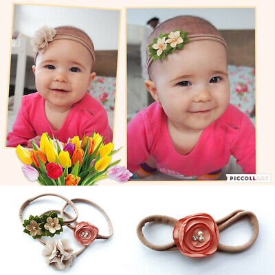 Baby Girls Boutique Head Band Cute Hair Ring Flower Bowknot Bobbles Hair Band