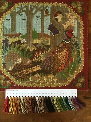 Elizabeth Bradley tapestry chart with wool card .'Woodland' Perfect.