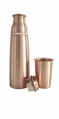 2 Pure copper Water Bottle Flask With 200 ml Capacity Glass
