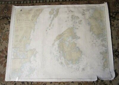 Nautical Chart of PENOBSCOT BAY, MAINE - CAMDEN, Rockland, VINALHAVEN, Deer Isle