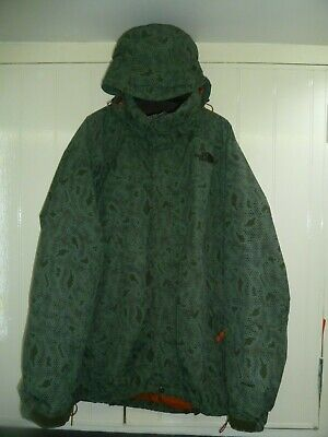 Men's Green Mix Hyvent Hooded Jacket by The North Face in Size L