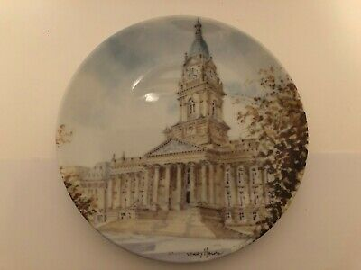 Kirkholme Crafts Limited Edition Gerry Hall Bolton Town Hall Commemorative Plate