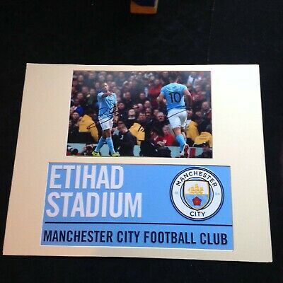 Manchester City Jesus & Aguero  Genuine Hand Signed with Metal Street Sign * COA