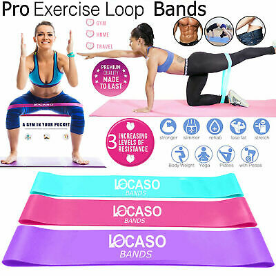 Fitness Exercise Resistance Loop Bands Elastic Band Home Workout Pilates Yoga